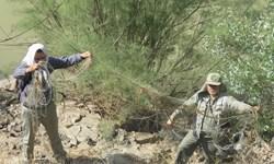 2500 متر تور ماهیگیری از دریاچه زایندهرود جمعآوری شد