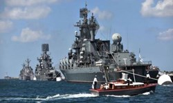 فیلم | رزمایش روسیه در نزدیکی شبهجزیره کریمه