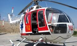 نخستین ماموریت امداد هوایی اورژانس 115 گلستان در سال 1398 برای نجات بیمار در شرایط سیل