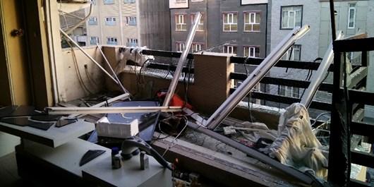 انفجار در طبقه چهارم ساختمان ۵ طبقه در تبریز/ علت حادثه متعاقبا اعلام می شود+ تصاویر