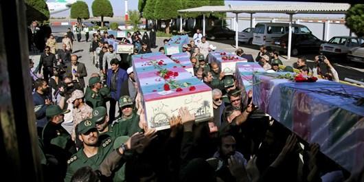 ورود پیکر 10 شهید دفاع مقدس و ۲ شهید مدافع حرم به مشهد