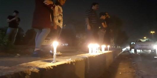 روشنکردن شمع به یاد شهدای حمله تروریستی امروز اهواز