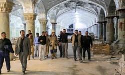 بازدید تولیت آستان علوی از مراحل تکمیل صحن حرم مطهر حضرت زهرا (س)+ عکس