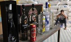 کشف ۱۲۰۰ بطری انواع مشروبات الکلی خارجی در عجبشیر