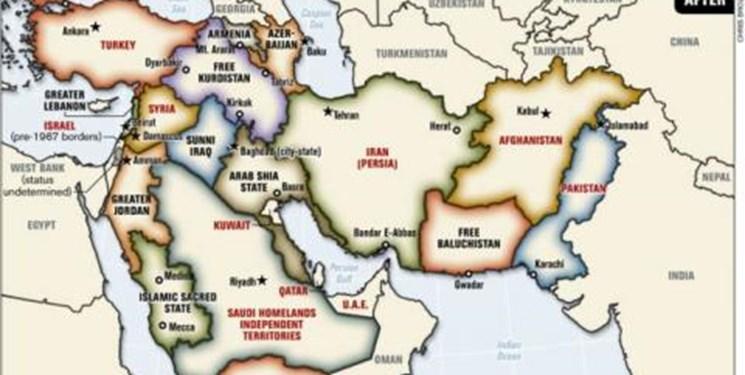 طرح «خاورمیانه بزرگ»؛ سناریوی شوم تجزیه ایران و کشورهای منطقه