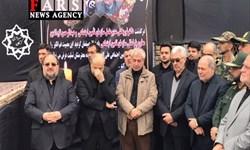 مراسم تشییع پیکر مدیرعامل و معاون سازمان تامین اجتماعی در گرگان