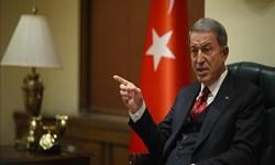 وزیر دفاع ترکیه: اجازه نمیدهیم یونان به حقوقمان تجاوز کند