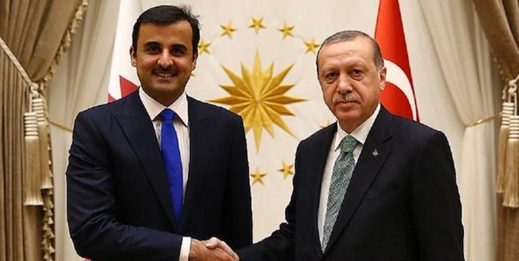 تماس تلفنی اردوغان و امیر قطر درباره مسائل منطقه