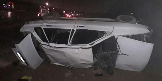 تصادف زنجیرهای 7 دستگاه خودرو سواری  8 نفر مصدوم برجای گذاشت+ عکس