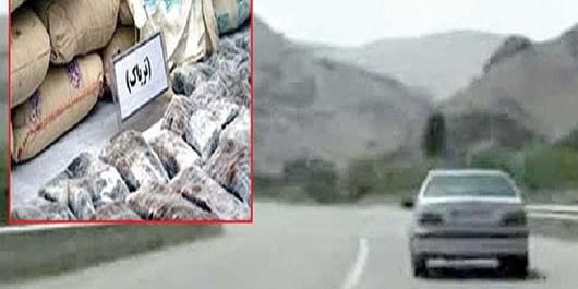 شلیک پلیس قاچاقچیان مواد مخدر را توقیف کرد/ کشف 159 کیلوگرم تریاک در تنگستان