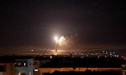 فیلم| مقابله پدافند هوایی سوریه با تهاجم جنگندههای صهیونیستی