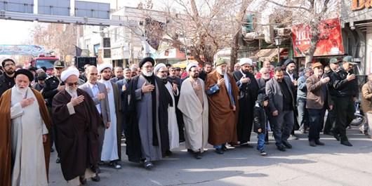 مراسم سوگواری حضرت زهرا (س) در ورامین برگزار شد