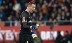 تراشتگن:بارسلونا در سطح همیشگی نبود