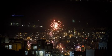 نورافشانی آسمان استان تهران در شب نیمه شعبان