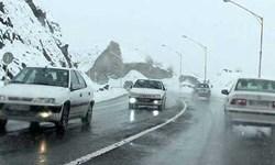 کندوان و هراز برفی شد/ احتمال ریزش سنگ در کوهستانهای شمال
