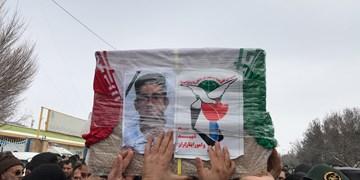 تشییع پیکر سرباز شهید مرزبانی ناجا در قوچان برگزار شد