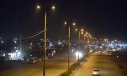 جاده ترانزیتی مجاور شهرک شهید رجایی ماهشهر روشن شد