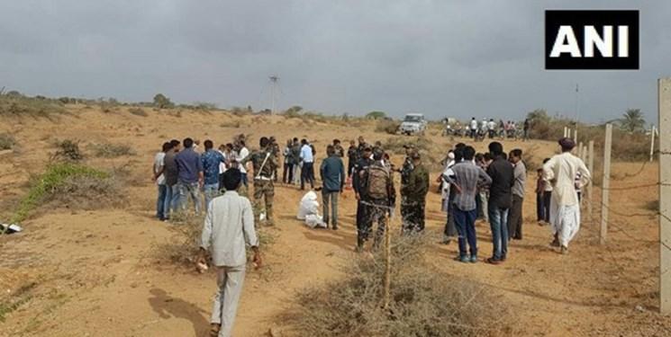 انهدام پهپاد پاکستان توسط ارتش هند+تصاویر