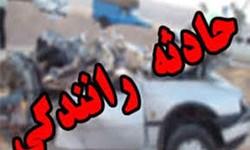 واژگونی خودروی آمبولانس در اتوبان پیامبر اعظم (ص)+تصاویر