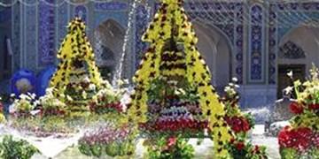 گلآرایی ویژه حرم مطهر رضوی در ایام نوروز با 200 هزار شاخه گل