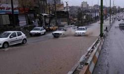 فیلم|سیلاب در معابر بومهن