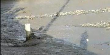 فیلم  سیلاب در رودخانه شاندیز