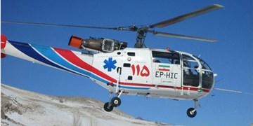 نجات ۲ دختربچه در آزادراه ساوه-تهران با اورژانس هوایی