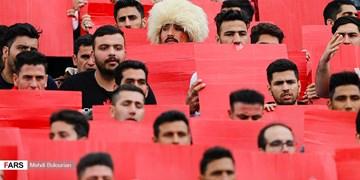 ماکت هواداری پرسپولیس در استادیوم آزادی