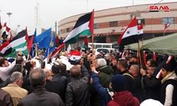 تظاهرات در دیرالزور علیه حضور نظامیان اشغالگر آمریکایی