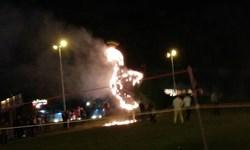 طاووس دروازه قرآن شیراز در آتش سوخت