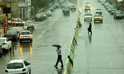 بارش باران در محورهای مواصلاتی چهارمحال و بختیاری