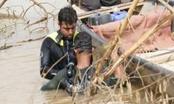 نجات روستای بیوض خوزستان در اعماق آب توسط گروه جهادی امام رضا (ع) مازندران + تصاویر و فیلم