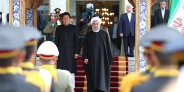 فیلم  استقبال رسمی روحانی از نخستوزیر پاکستان