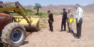 رفع تصرف ۱۰۰۰ مترمربع از اراضی ملی در شهرستان چرداول