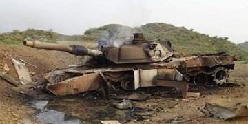 انهدام تانک و خودروی زرهی سعودی در مرز یمن