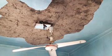 ترس مادران ترکمن زیر سقفهای ترکخورده از سیل