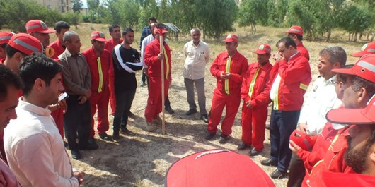برگزاری مانور اطفاء حریق منابع طبیعی در شهرستان کهگیلویه