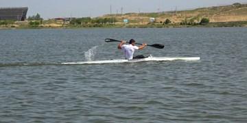 قایقران اردبیلی برای تیم ملی ایران پارو میزند