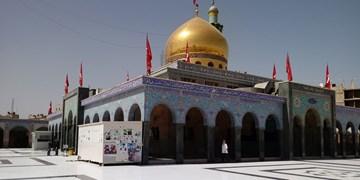 ادای احترام مدافعان حرم به ساحت حضرت زینب(س)+فیلم