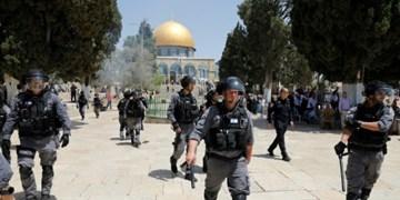 زخمی شدن ۴۵ فلسطینی در محوطه مسجدالاقصی