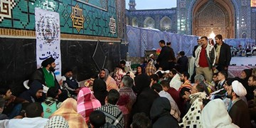 حضور بیش از 1300 نفر از دانشگاهیان مشهد در مراسم اعتکاف حرم رضوی
