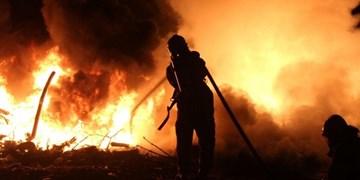 حریق در تپه باستانی باغ شازده شهرقدس/ شهروندان از آتشزدن عمدی علوفهها بپرهیزند