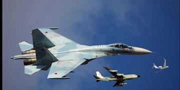 تقابل «سوخو-27» روسیه با 2 فروند هواپیمای جاسوسی آمریکا