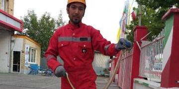 زندهگیری یک حلقه مار افعی در یک منزل مسکونی در مشهد