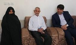 دیدار استاندار یزد با خانواده اسماعیل نعمتی زاده، شهید مبارزه با مواد مخدر+ تصویر
