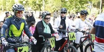 برگزاری نخستین دوره لیگ دوچرخهسواری کوهستان بانوان گیلان+ تصاویر