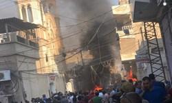 فیلم| وقوع چند انفجار در شمال سوریه