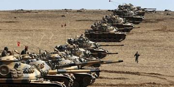 ترکیه در پاسخ به ریاض و ابوظبی صد تانک و خودوری نظامی در مرز سوریه مستقر کرد