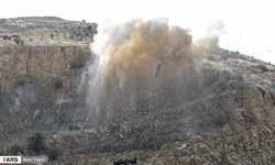 فیلم| انفجار دقیق بر فراز دروازه قرآن شیراز از نمای نزدیک