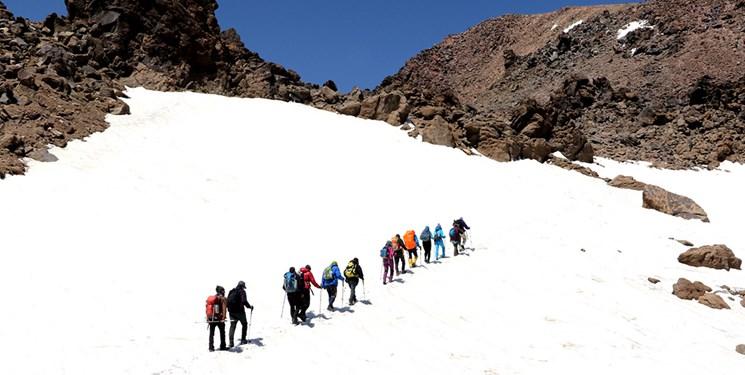 کوهنوردان مفقود شده  در ارتفاعات تکاب نجات یافتند